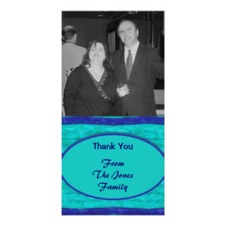 Turquoise blue Thank You Card