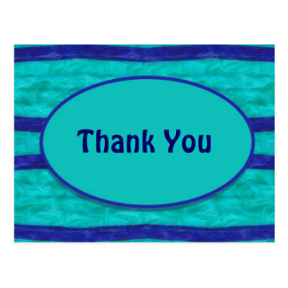 Turquoise blue Thank You Postcard