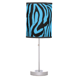 Turquoise Blue Tiger Skin Table Lamps