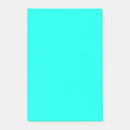 Turquoise Blue Top Colour Coordinating Post-it Notes