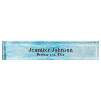 Turquoise Blue Water Picture Name Plate