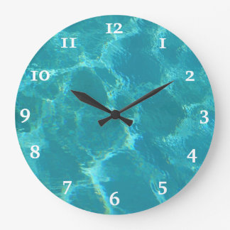 Turquoise Blue Water Wall Clock