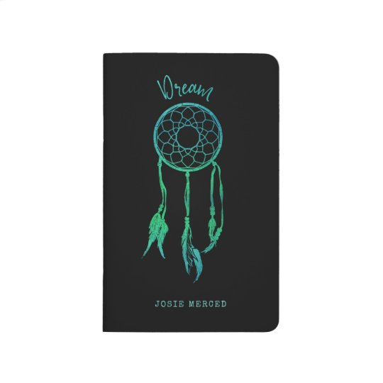 Turquoise Blue Watercolor Dream Catcher Journal