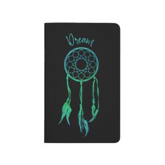 Turquoise Blue Watercolor Dreamcatcher Journals