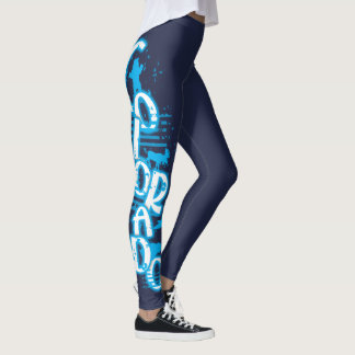 Turquoise blue wild animal Colorado leggings