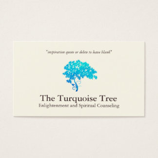 Turquoise Blue Zen Tree Business Card