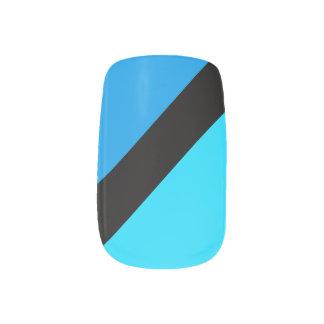 Turquoise Blues Striped Minx Nails Minx Nail Art