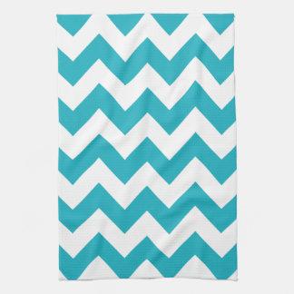 Turquoise Bold Chevron Kitchen Towel