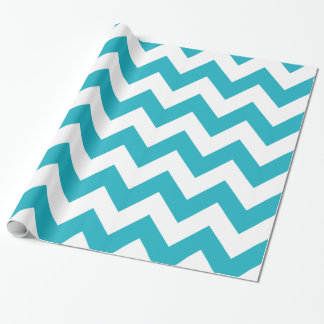 Turquoise Bold Chevron Wrapping Paper