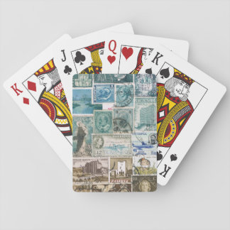 Turquoise Brown Abstract Landscape Playing Cards