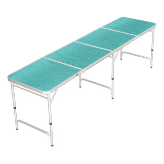 Turquoise Brushed Metal Look Beer Pong Table