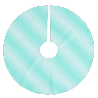 turquoise brushed polyester tree skirt