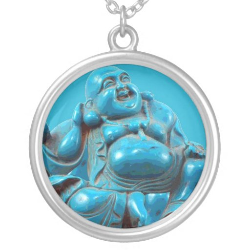 Turquoise Buddha Vintage Costume Jewelry Charm