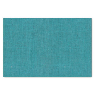 Turquoise Burlap Texture Tissue Paper