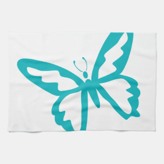 Turquoise Butterfly fly,caterpillar,pattern,insect Kitchen Towel