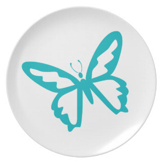 Turquoise Butterfly fly,caterpillar,pattern,insect Plates