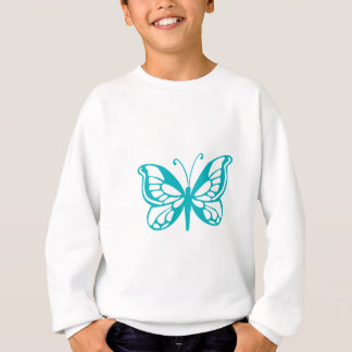 Turquoise Butterfly fly,caterpillar,pattern,insect Sweatshirt