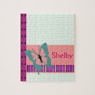 Turquoise Butterfly Jigsaw Puzzle