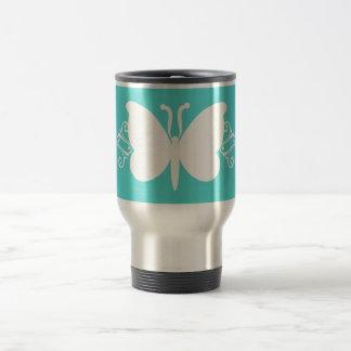 Turquoise Butterfly Swirls Mug