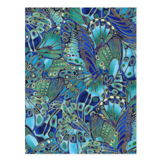 Turquoise butterfly wings postcard