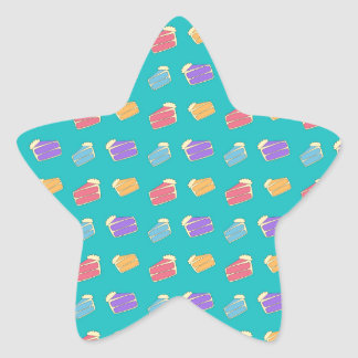 Turquoise cake pattern star stickers