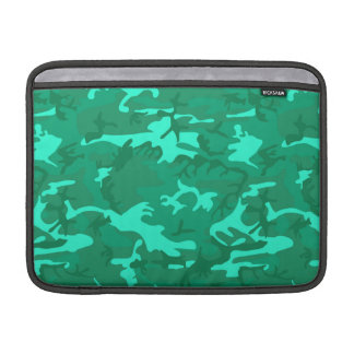 Turquoise Camo Sleeve For MacBook Air