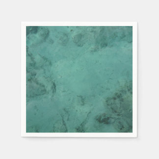 Turquoise Caribbean Tropical Sea Paper Napkins
