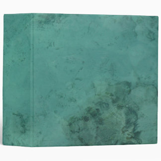 Turquoise Caribbean Tropical Sea Vinyl Binders