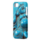 Turquoise Carved Happy Buddha Statue Iphone Case