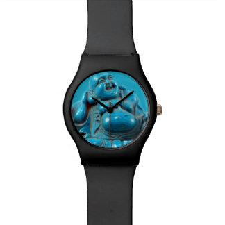 Turquoise Carved Happy Buddha Zen Lucky Yoga Wrist Watch