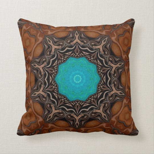 Turquoise Celebration. Throw Pillow