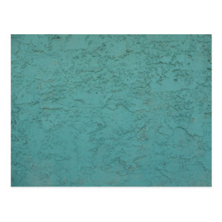 turquoise cement postcard