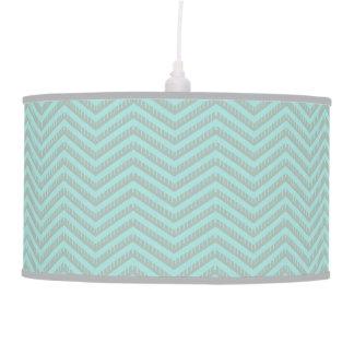 Turquoise Chevron Lamp