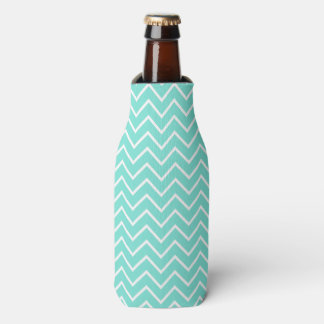 Turquoise Chevron Pattern Bottle Cooler