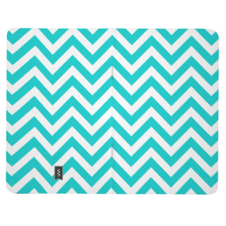 Turquoise chevron pattern pocket journal design