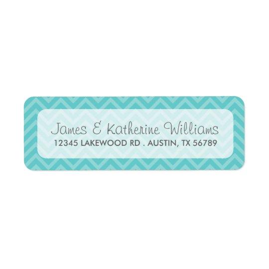 Turquoise Chevron Stripes Modern Wedding