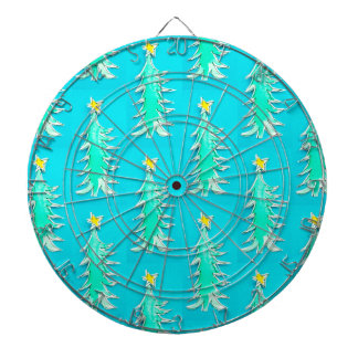 Turquoise Christmas Tree dart board game