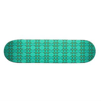 turquoise circle pattern skateboard decks