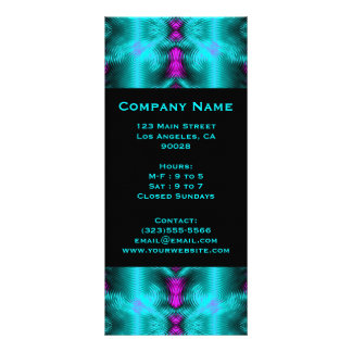 turquoise circles rack cards