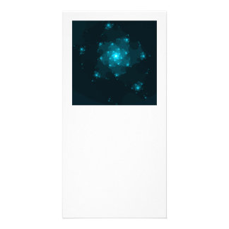 Turquoise Color Abstract Fractal. Picture Card