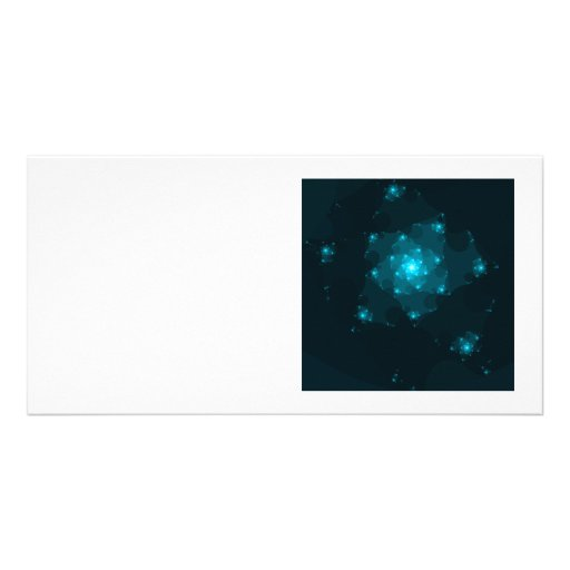 Turquoise Color Abstract Fractal. Photo Greeting Card