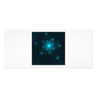 Turquoise Color Abstract Fractal Rack Card Template