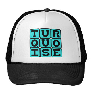Turquoise, Color Hats