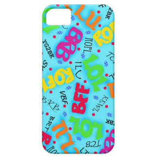 Turquoise Colorful Electronic Texting Art Abbrevia iPhone 5 Case