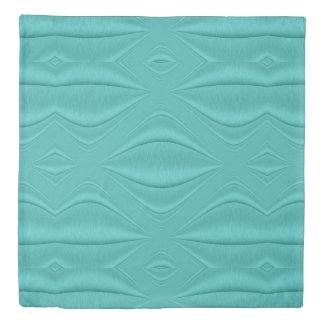 Turquoise Contour Duvet Cover