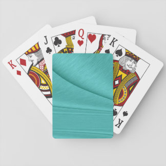 Turquoise Contour Playing Cards