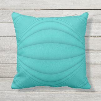 Turquoise Contours Throw Pillow