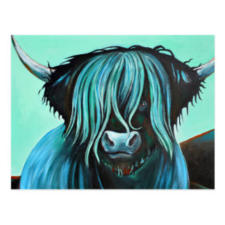 Turquoise Coo, How do you do? Postcard
