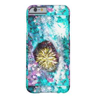 Turquoise coral reef abstract sea bed barely there iPhone 6 case