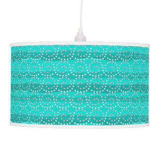 Turquoise & Coral Waves Pendant Lamp